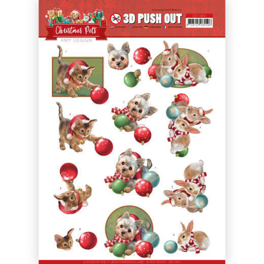 Stansvel Amy Design - Christmas Pets SB10464