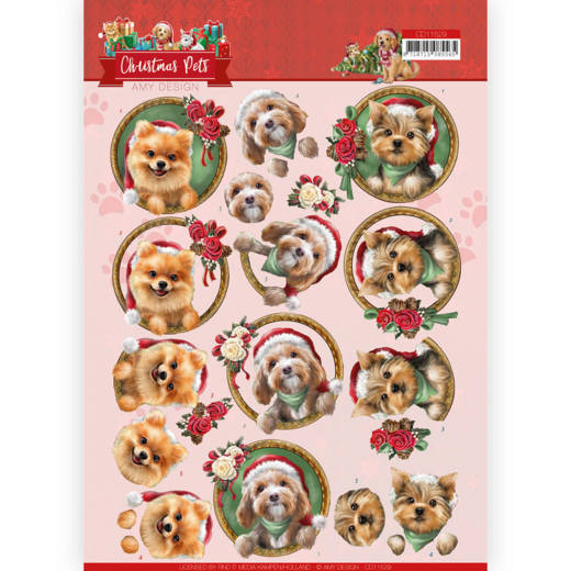 Knipvel Amy Design - Christmas Pets CD11529