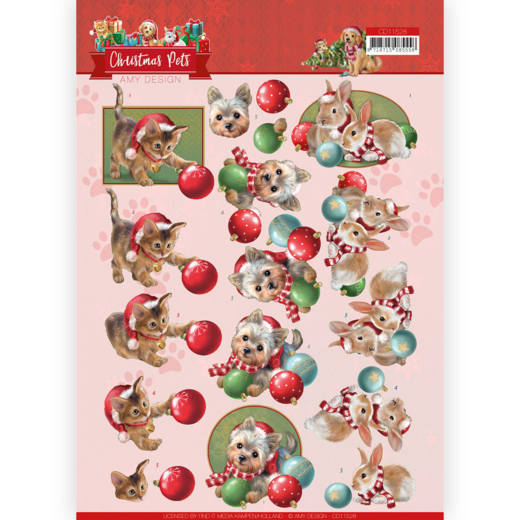 Knipvel Amy Design - Christmas Pets CD11528