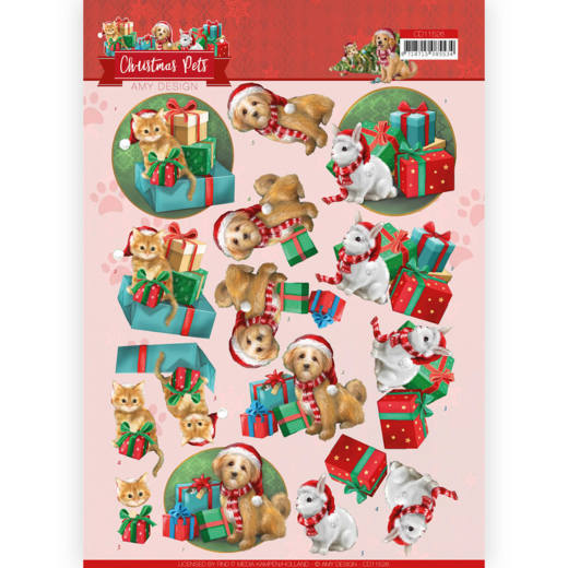 Knipvel Amy Design - Christmas Pets CD11526