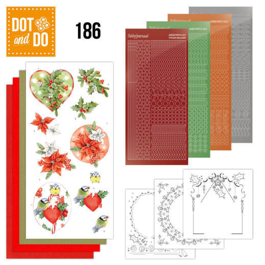 Dot & Do Hobbydots Pakket - red holly berries