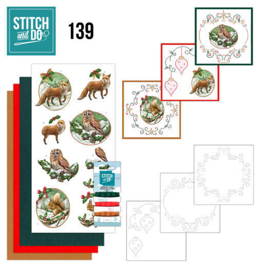 Stitch and Do Pakket 139 - christmas animals
