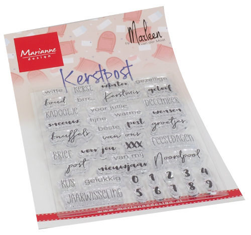 Clearstamps Marianne Design - By Marleen - kerstpost