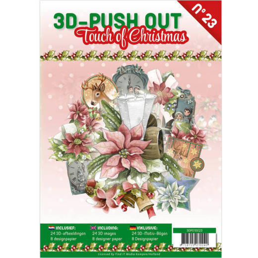 3D Push Out Book - touch of christmas