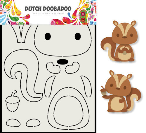 Dutch Doobadoo Card Art - eekhoorn A5