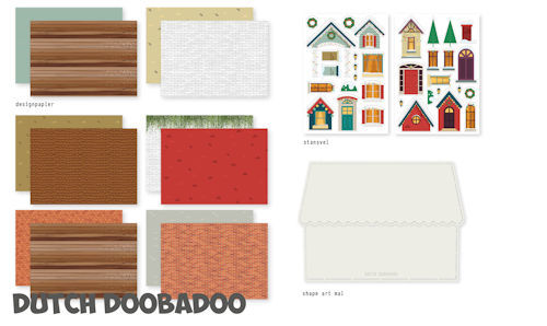 Dutch Doobadoo Set - Christmas Scene