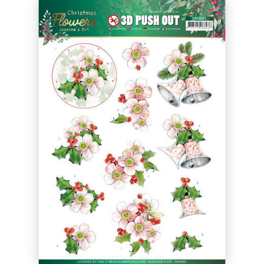 Stansvel Jeanine's Art - Christmas Flowers SB10481