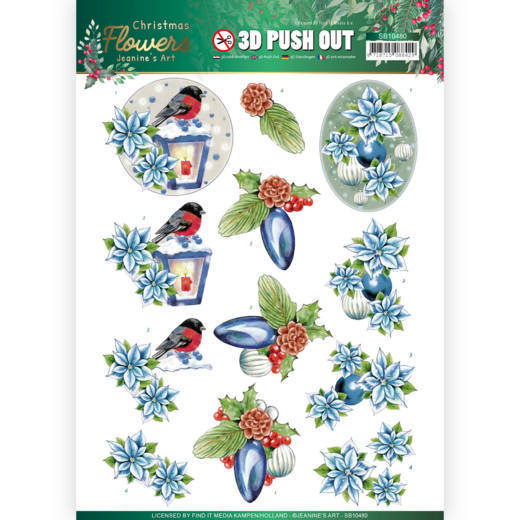 Stansvel Jeanine's Art - Christmas Flowers SB10480