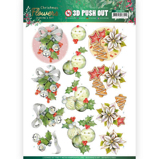 Stansvel Jeanine's Art - Christmas Flowers SB10479
