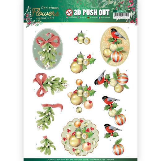 Stansvel Jeanine's Art - Christmas Flowers SB10478
