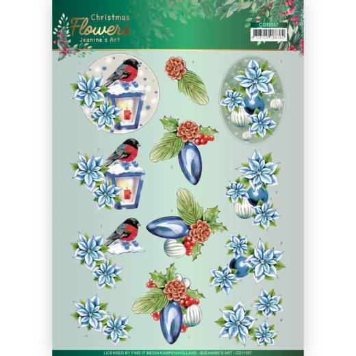 Knipvel Jeanine's Art - Christmas Flowers CD11557