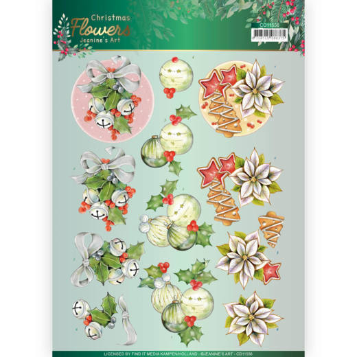 Knipvel Jeanine's Art - Christmas Flowers CD11556