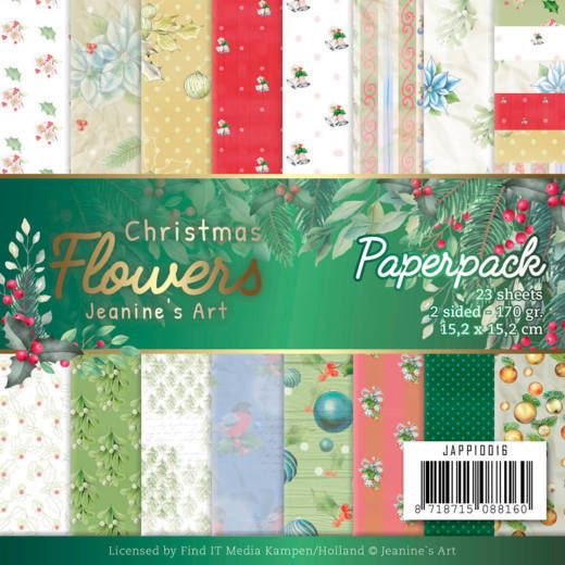 Paper Pack Jeanine's Art - Christmas Flowers