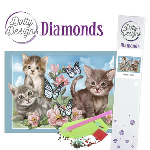 Dotty Designs Diamond Painting Pakket - cats