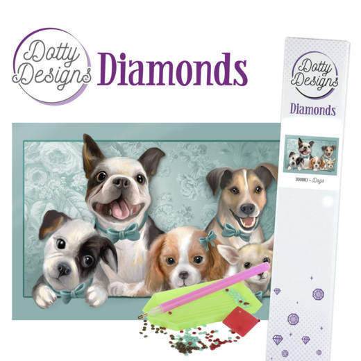 Dotty Designs Diamond Painting Pakket - dogs