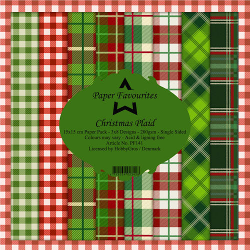 Paper Pad Dixi Craft - christmas plaid