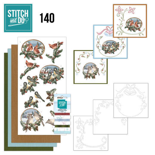 Stitch and Do Pakket 140 - christmas birds