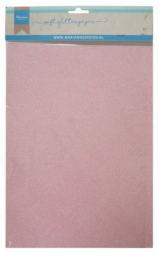Marianne Design Soft Glitter Paper - light pink