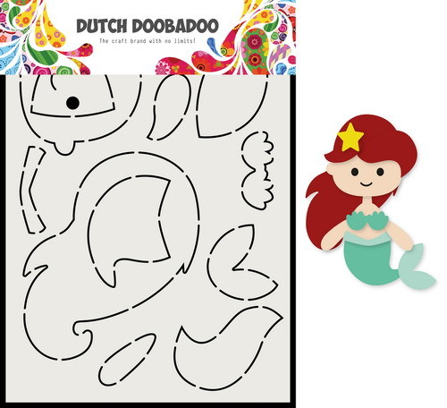 Dutch Doobadoo Shape Art - Build Up - zeemeermin