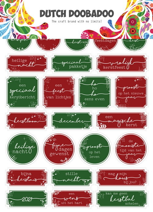 Dutch Doobadoo Sticker Art - christmas A5