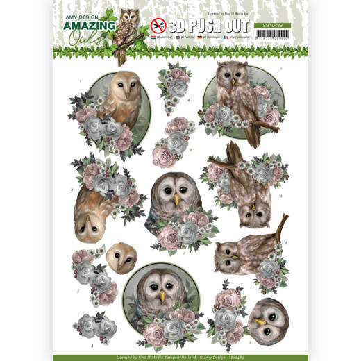 Stansvel Amy Design - Amazing Owls SB10489