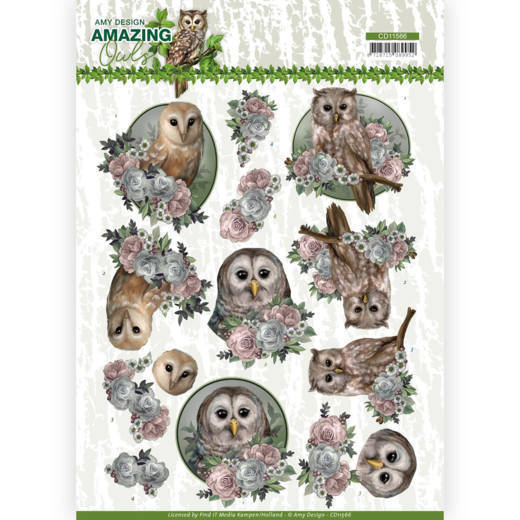 Knipvel Amy Design - Amazing Owls CD11566