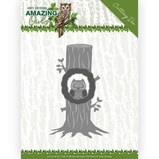 Amy Design Stans - Amazing Owls - owl in tree