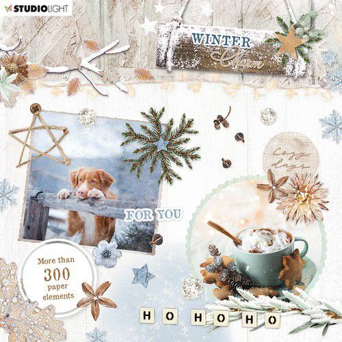 Studio Light Die Cut Block - Winter Charm