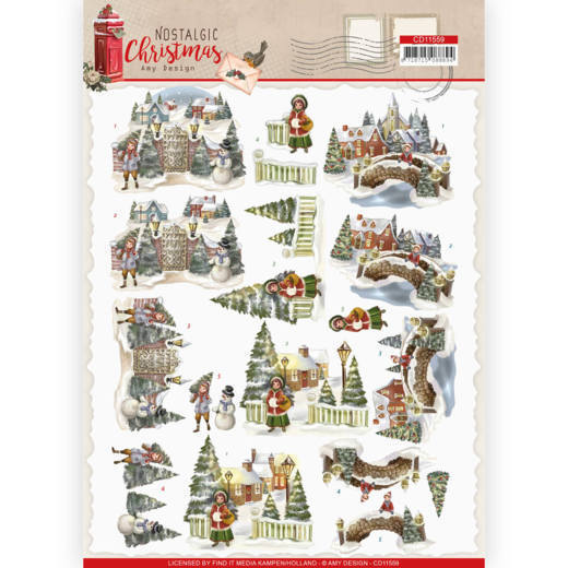 Knipvel Amy Design - Nostalgic Christmas CD11559