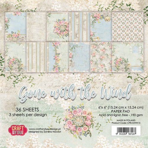 Craft & You Paper Pad - Gone with the Wind (6 x 6 inch)