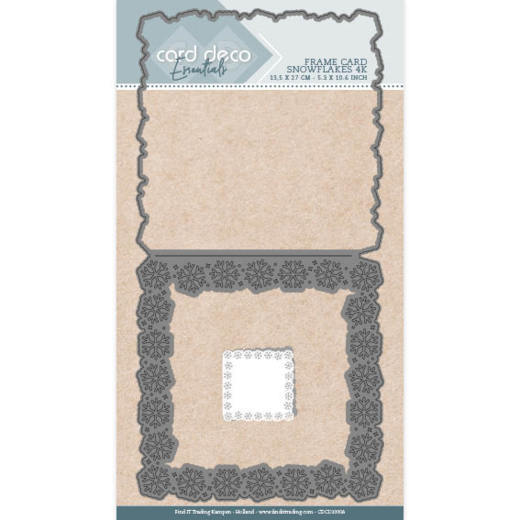 Card Deco Essentials Stans - snowflakes vierkant