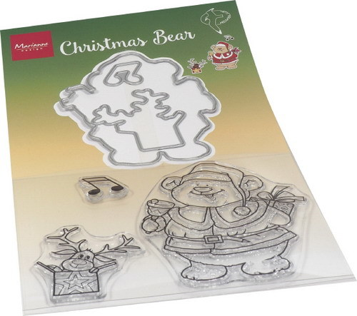 Marianne Design Clearstamps & Dies - Hetty's kerstbeer