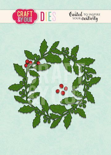 Craft & You Stans - holly wreath