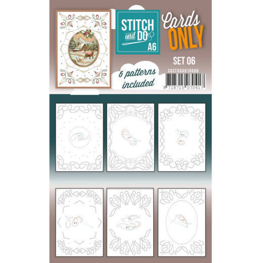 Stitch and Do Cards Only A6 - set 06