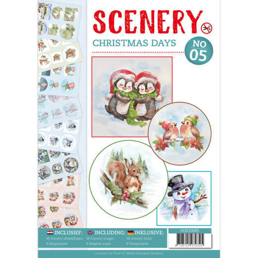 Push Out Book Scenery 05 - christmas days