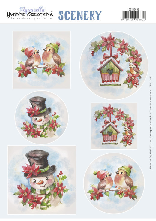 Stansvel Scenery - Yvonne Creations - christmas birds