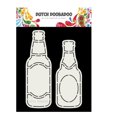 Dutch Doobadoo Card Art A5 - bierflesjes