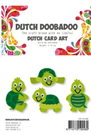 Dutch Doobadoo Card Art - schildpad