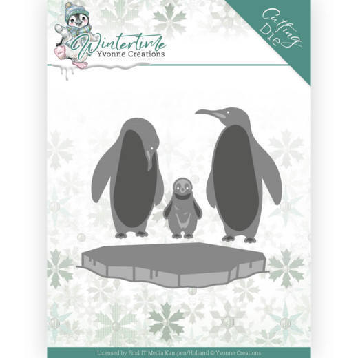 Yvonne Creations Stans - Winter Time - penguins on ice