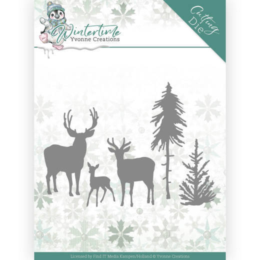 Yvonne Creations Stans - Winter Time - deer in the forest