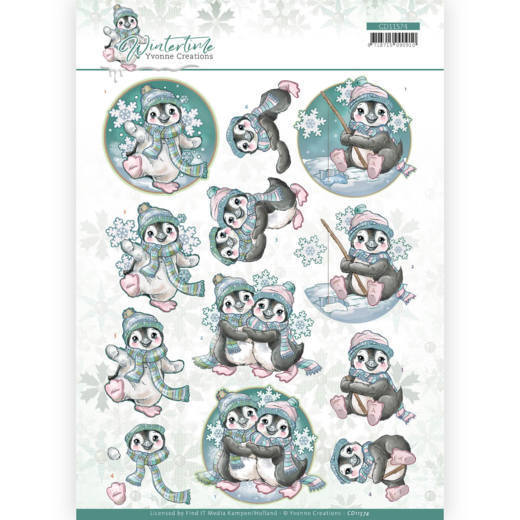 Knipvel Yvonne Creations - Winter Time CD11574