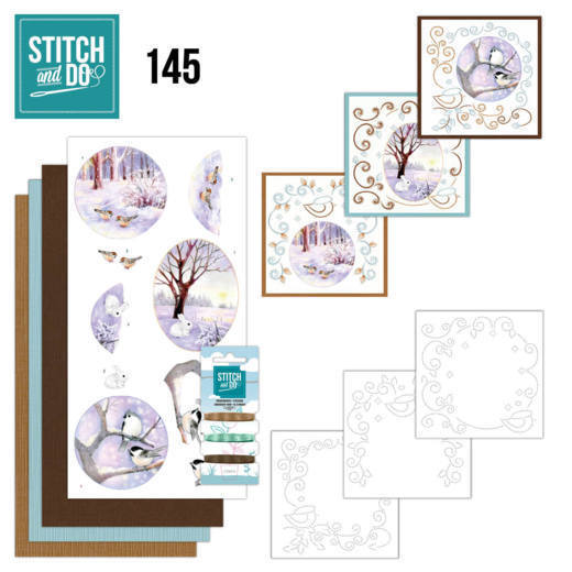 Stitch and Do Pakket 145 - winter landscape