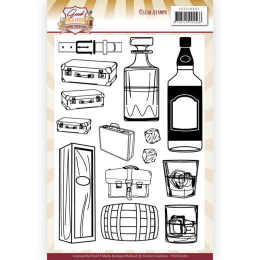 Clearstamps Yvonne Creations - Good Old Days - whiskey