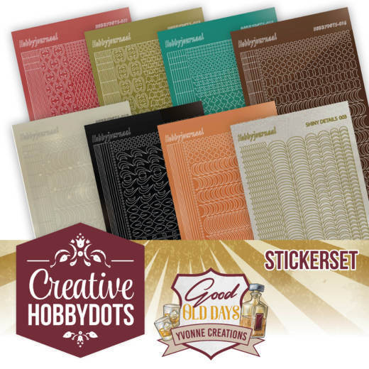 Stickerset bij Creative Hobbydots 8 - Yvonne Creations - Good Old Days