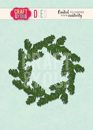 Craft & You Stans - conifer wreath