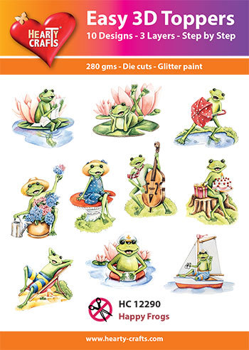 Easy 3D Toppers - happy frogs