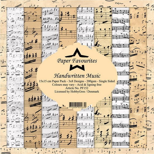 Paper Pad Dixi Craft - handwritten music