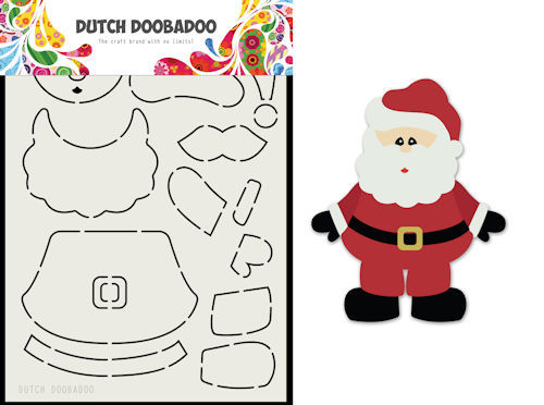 Dutch Doobadoo Card Art - santa A5