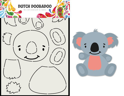 Dutch Doobadoo Card Art - koala A5