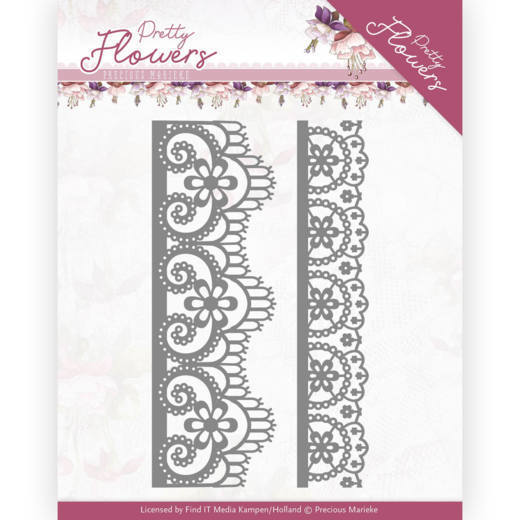 Precious Marieke Stans - Pretty Flowers - lace border